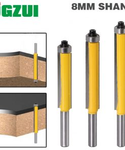 """1pc 8mm Shank 2"""" Flush Trim Router Bit with Bearing for Wood Template Pattern Bit Tungsten Carbide Milling Cutter for Wood 02017"""
