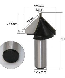 """1pc 1/2"""" Shank Industrial Grade Mobile door knife CNC Tool Door Edge Bits Wooden Surplus Milling Cutter"""