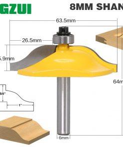 """1pc 8mm Shank Panel Raiser Router Bit - Ogee 1"""" Depth Woodworking cutter woodworking router bits carbide bit door knife"""