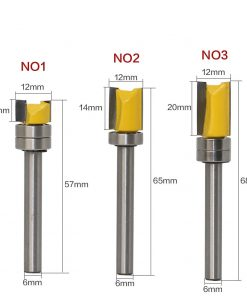 1PC 6mm Shank Template Trim Hinge Mortising Router Bit Straight end mill trimmer cleaning flush trim Tenon Cutter forWoodworking