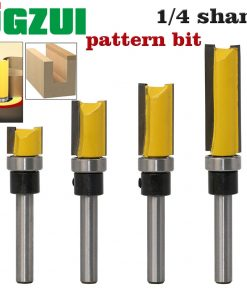 1PC 1/4 Shank Template Trim Hinge Mortising Router Bit Straight end mill trimmer cleaning flush trim Tenon Cutter forWoodworking