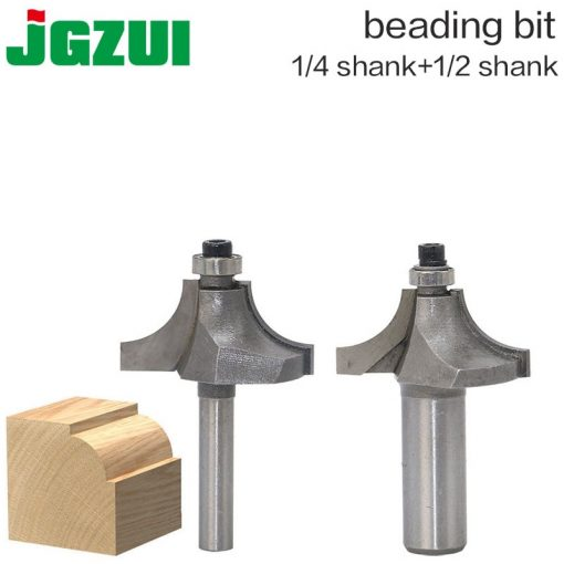 """1pcs 1/2"""" 1/4"""" Shank Beading Router Bit Tungsten Carbide Beading Bit Double Edging Router Bits for wood woodworking tools"""