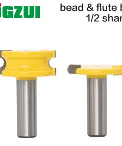 "2 pc 1/2"" shank 12mm shank Canoe Flute and Bead Router Bit wood cutter woodworking cutter woodworking bits wood milling cutter"