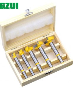 5pc Forstner Tips Hinge Boring Drill Bit Set for Carpentry Wood Window Hole Cutter Auger Wooden Drilling Dia 15 20 25 30 35mm