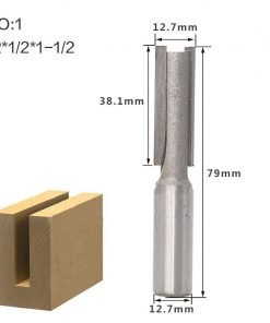 "1 pc 1/2""1/4 Shank Extra long 3"" Blade 1/2"" Cutting Dia. Straight Router Bit Woodworking cutter Tenon Cutter for Woodworking"