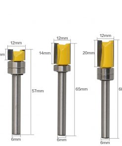 1PC6mm Shank Template Trim Hinge Mortising Router Bit Straight end mill trimmer cleaning flush trim Tenon Cutter forWoodworking