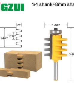 1PC 1/4 inch Shank Rail and Stile Finger Joint Glue Router Bit Cone Tenon Woodwork Cutter Power Tools-RCT15381