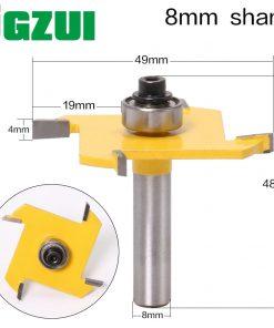 1PSC Z4 T TYPE SLOTTING BIT 8mmShank cutter Industrial Grade Rabbeting Bit woodworking tool router bits