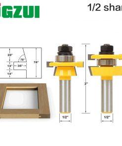 "Rail & Stile Router Bit Set - Shaker 2 Pc 1/2"" Shank 12mm shank door knife Woodworking cutter Tenon Cutter for Woodworking Tools"