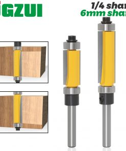 "1Pc 6mm 1/4"" Shank Template/Trim Router Bit, with 2"" Long Routing Cutters. Features: top & bottom ball bearings Woodworking Tool"