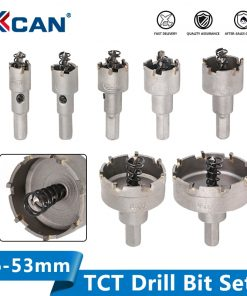 TCT Drill Bit 16-53mm Hole Saw Set Carbide Tipped Wood Metal Core Drill Bit Hole Saw Cutter