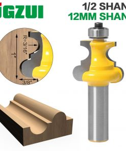 "1pc 12mm 1/2"" Shank Bead Molding Router Bit Flute & Beading Line Woodworking Tenon Milling Cutter for Wood Tools"