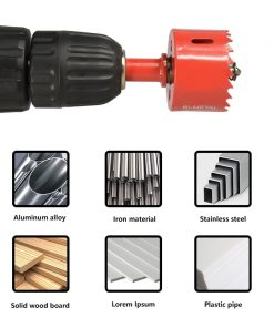 XCAN Hole Saw Drill 14-125mm Bi-metal Core Drill Bit for Woodworking Hole Drilling Cutter Wood Drill