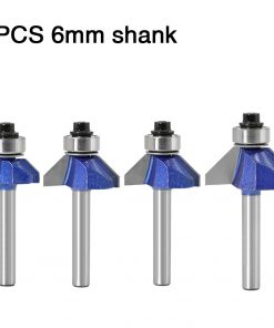 1pc 6mm Shank 45 Degree Chamfer Router Bit The high quality Edge Forming Bevel Woodworking Milling Cutter for Wood Bits