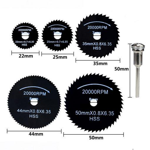 HSS Saw Blade 1 Set Nitride Coated Mini Circular Saw Blade For Wood/Metal Rotary Tools Cutting Di