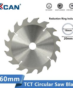 XCAN Saw Blade 160mm 16 24 30 Teeth Circular Saw Blade Carbide Tipped Saw Disc Woodworking Cutting Disc