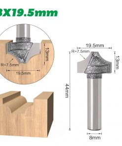 1pc 8mm shank router bit carbide router bit woodworking cutter open end carving bits