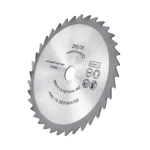 Electric Mini Saw Blade Circular Cutting Blade for Woodworking Cut Off Disc 85x10mm 36 Teeth