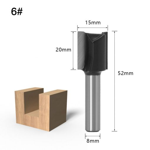 1pc 8mm Shank Round-Over Router Bits for wood Woodworking Tool 2 flute endmill with bearing milling cutter Corner Round Over