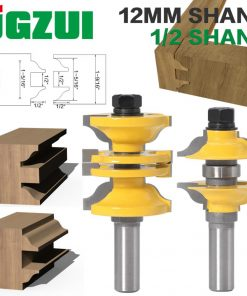 """2pcs 12mm 1/2"""" Shank Entry & Interior Door Ogee Router Bit Matched MIlling Cutter Set for Wood Woodworking Machine"""