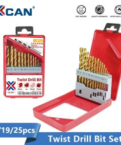 XCAN Twist Drill Bit Set 1.0-13mm Titanium Coated Metal Gun Drill Hole Cutter Power Tools Accessories HSS Wood Metal Drill Bit