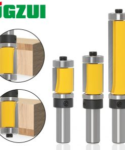 "1Pc 12mm 1/2"" Shank Flush Trim Router Bit Top & Bottom Bearing - 1-1/2""H For Woodworking Cutting Tool"