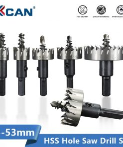 XCAN Carbide Tip HSS Drill Bit Hole Saw Set 15-53mm Metalworking Tools Core Drill Bit for Metal Drilling