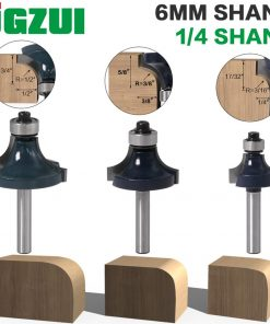 "1pcs 6mm shank 1/4"" shank Corner Round Over Router Bit with BearingMilling Cutter for Wood Woodwork Tungsten Carbide"