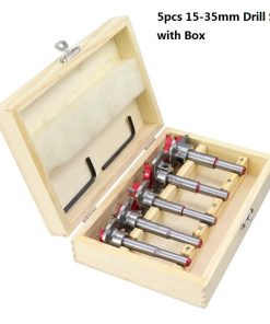 1 Set Adjustable Wood Hole Cutter 15/20/25/30/35mm Carpenter Forstner Drill Bit Set Carbide Tipped Boring Core Hole Drill