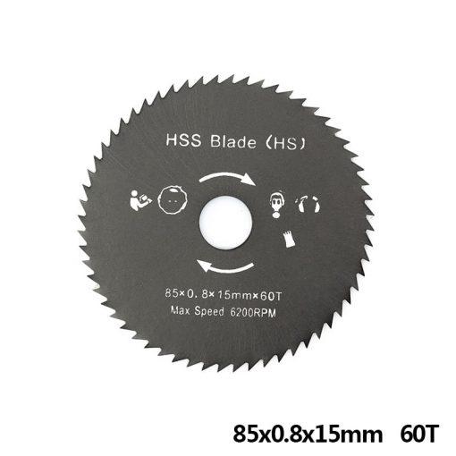 1pc 85mm Nitride Coating HSS Circular Saw Blade Wood/Metal Cutter Wood Cutting Disc Saw Blade