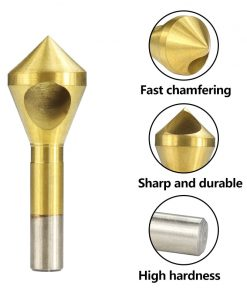 HSS4241 Countersink Deburring Drill Bit 2-5-10-15 10-15 15-20 Metal Taper Stainless Steel Hole Saw Cutter Chamfering Drill