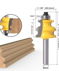 1pc 8mm Shank Line Router Bit Architectural Molding Woodworking Tenon Milling Cutter for Wood Machine Tool