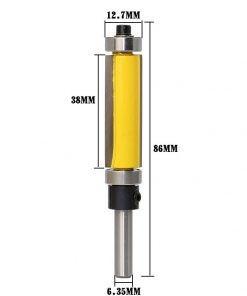 "1Pc 1/4"" Shank Template/Trim Router Bit, with 2"" Long Routing Cutters. Features: top & bottom ball bearings Woodworking Tool"