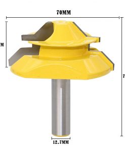 "Large Lock Miter Router Bit - 45 Degree - 1"" Stock - 1/2"" Shank 12mm shank -Tenon Cutter for Woodworking Tools-RCT15293"