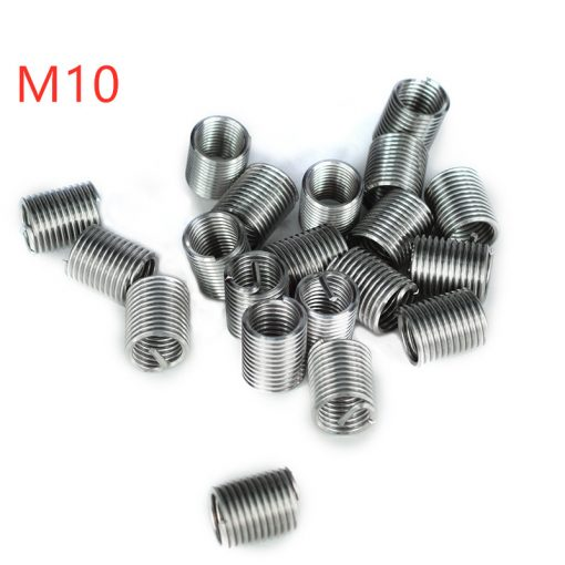 Silver Thread Repair Insert Kit M3-M14 1.5D-2.0D Stainless Steel Repair Tools 10-20pcs For Restoring Damaged Threads Tools