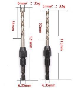 Hexagonal shank twist drill 5-piece set