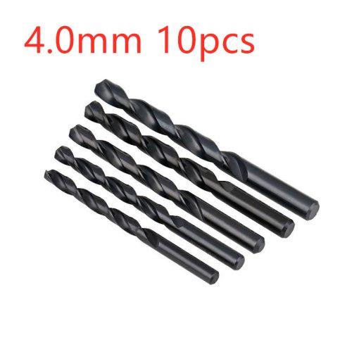 Black straight shank twist drill