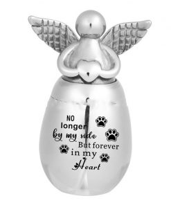 Small Keepsake Urns for Human Ashes Mini Cremation Urns for Ashes Stainless Steel Angel Memorial Ash Jar