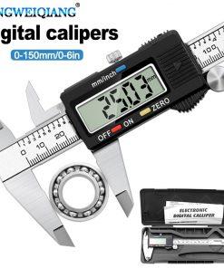 6 Inch 0-150mm Measuring Tool Stainless Steel Caliper Digital Vernier Caliper