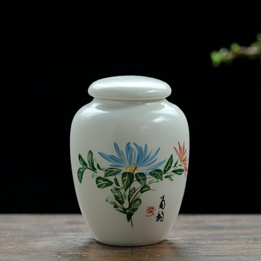 Mini White Ceramic Pet Ashes Urn Cremation Ash Holder Small Animal Pet Parrot Bird Funeral Memorial Casket Burial Urns In Niche