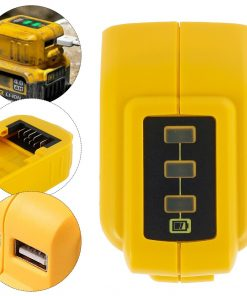 USB Converter Charger For DEWALT 10.8V 12V 18V 20V Li-ion Battery Converter DCB090 USB Device Charging Adapter Power Supply