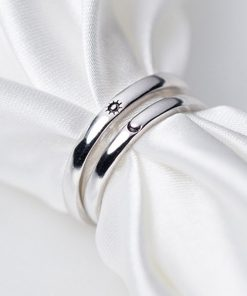 Couple Rings | Sun and Moon Rings | Promise Rings for Couples | Best Friend Rings | Matching Rings and Cool Rings of S925 Sterling Silver
