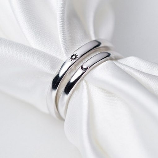 Couple Rings   Sun and Moon Rings   Promise Rings for Couples   Best Friend Rings   Matching Rings and Cool Rings of S925 Sterling Silver