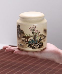 Chinese Kung Fu Canister Bone Ceramics Teaware Tea Caddies Tea Jars Cans Box