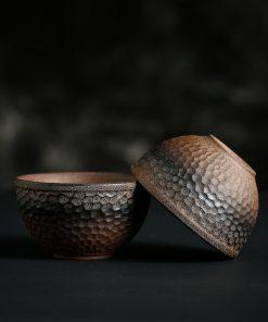 Japanese Vintage Handmade Ceramic Retro Style Stoneware Tea Bowl Master Cup