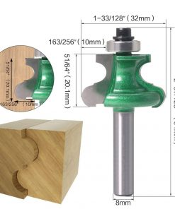 1pc 8mm Shank Bead Molding Router Bit Flute & Beading Line Woodworking Tenon Milling Cutter for Wood Tool