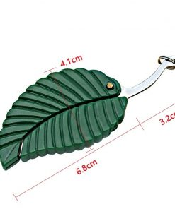 Stainless Steel Pocket Knife Leaf Shape Outdoor Camping Survival KnifeTool Creative Car-styling Keychain