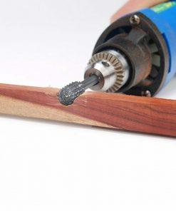 10pcs 6mm Head Tungsten Steel Carbide Rotary Burr Bur Die Grinder Bit + Case Set