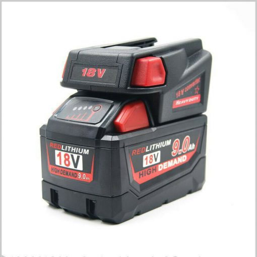 Milwaukee M18 18V Li-ion Battery Convert To Milwaukee V18 Battery USB Adapter