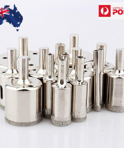 15Pcs 6-50mm Diamond Coated Hole Saw Core Drill Bits For Glass Tile Marble